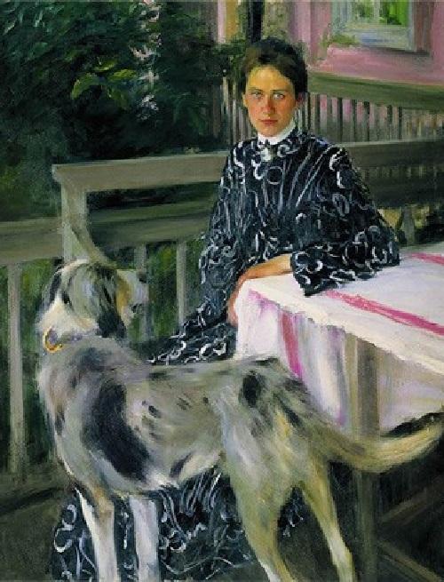 Жена художника. Автор: Б.М.Кустодиев.