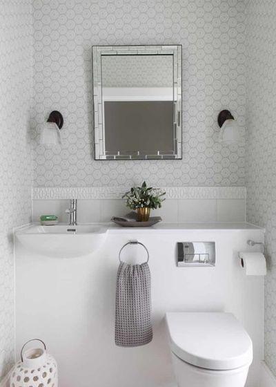 Современный Туалет Contemporary Powder Room