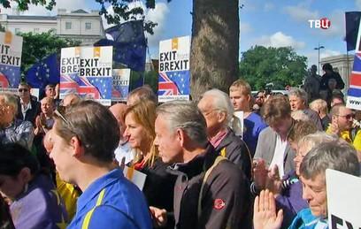 В Лондоне тысячи противников Brexit вышли на демонcтрацию