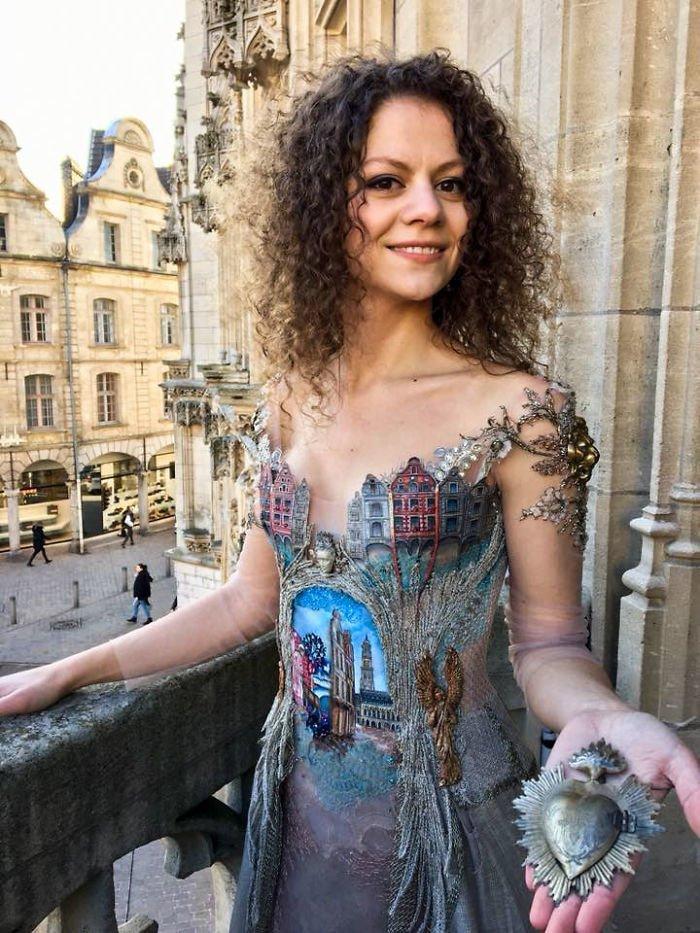 """Ещё одно платье в стиле """"старый город"""" Сильви Фасон, красота, креатив, мода, одежда, платье, фантазия"""
