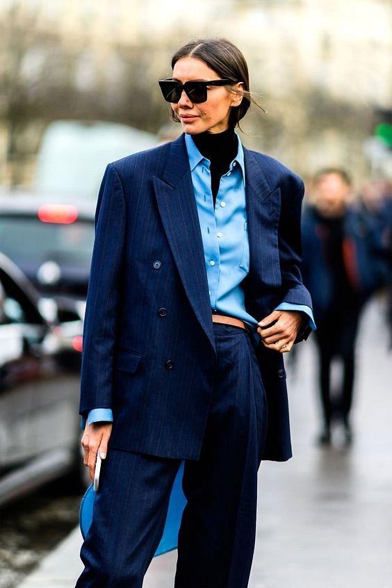 Как носить синий - самый модный цвет 2020 года фото №29