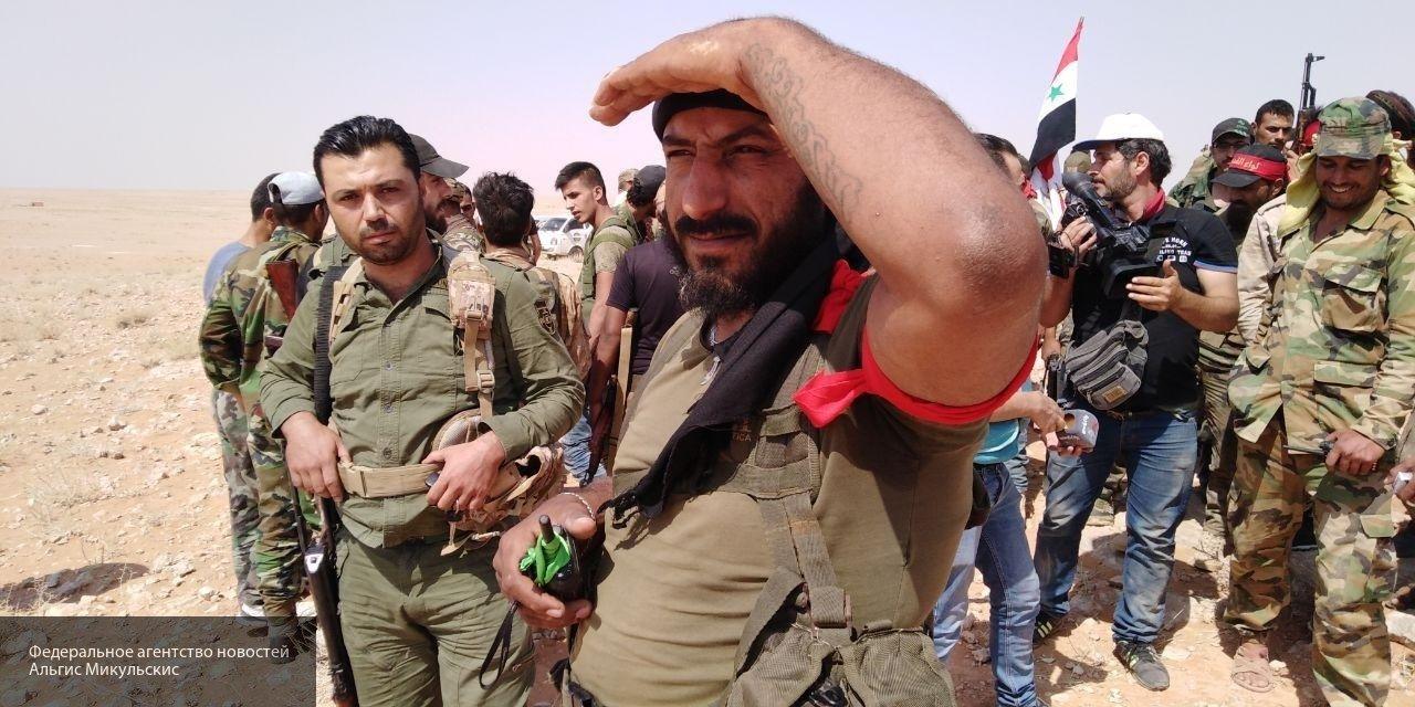 Сирийская армия при наступле…