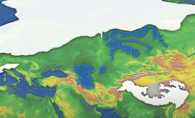 Как выглядела Россия во время Ледникового периода. Ледник над Москвой и море в Сибири