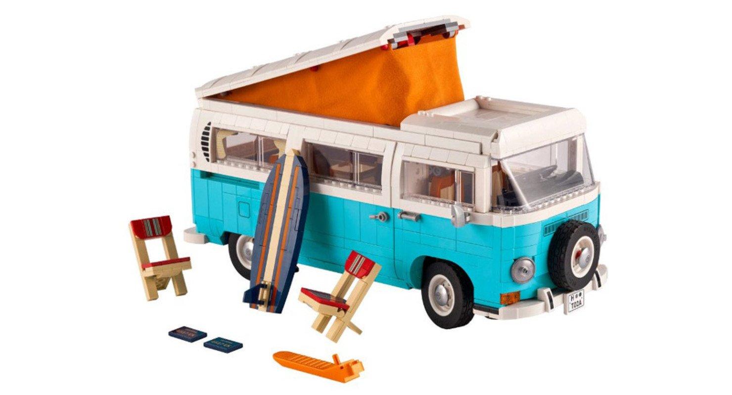 Культовый кемпер Volkswagen T2 появился в серии Lego Creator Expert Автомобили