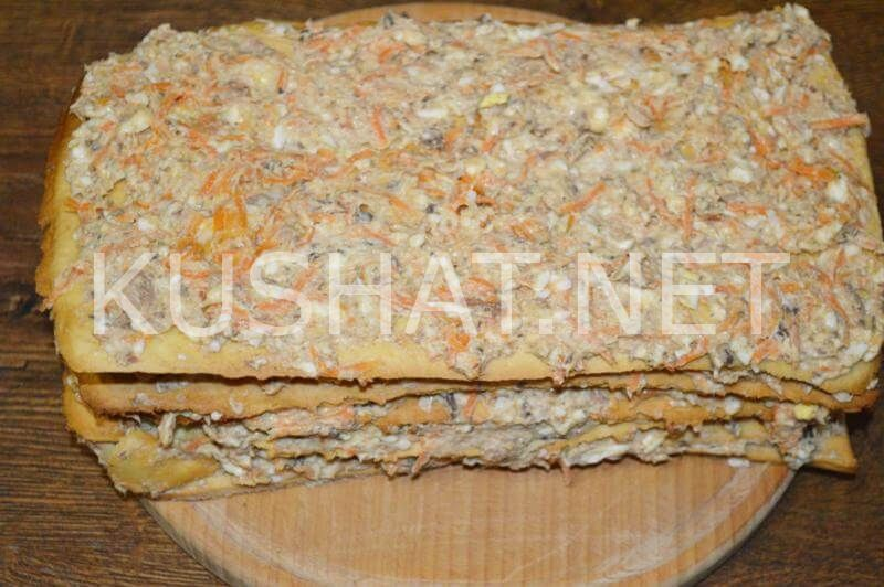 23_закусочный торт Наполеон с консервами