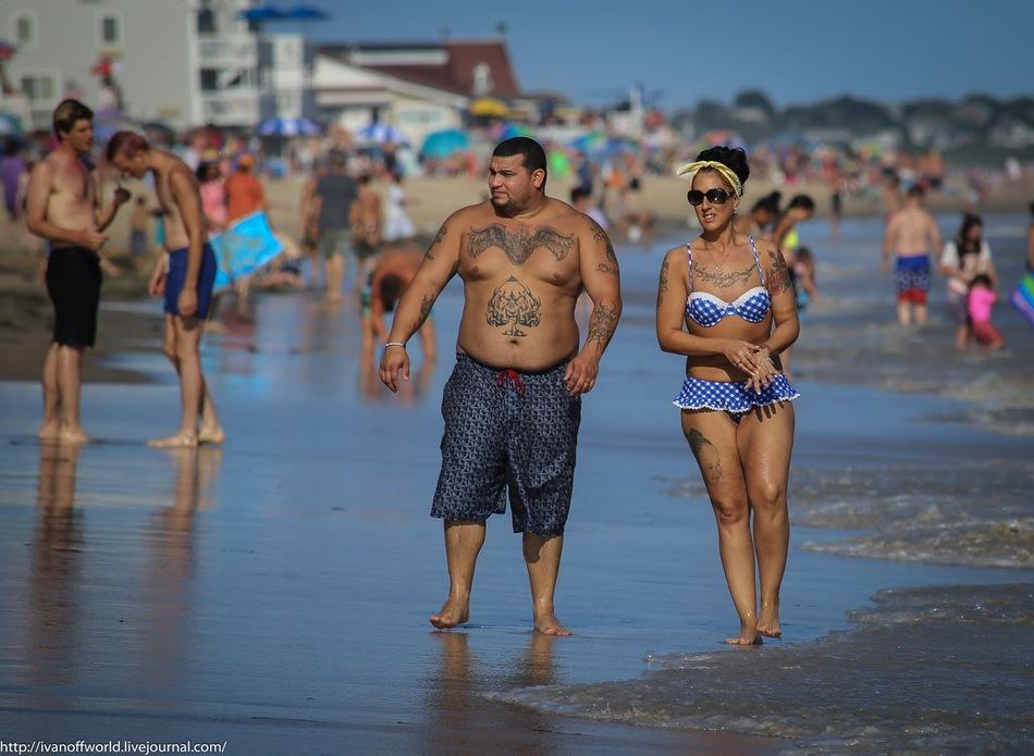 Негласные правила на американском пляже. Мода и забавы