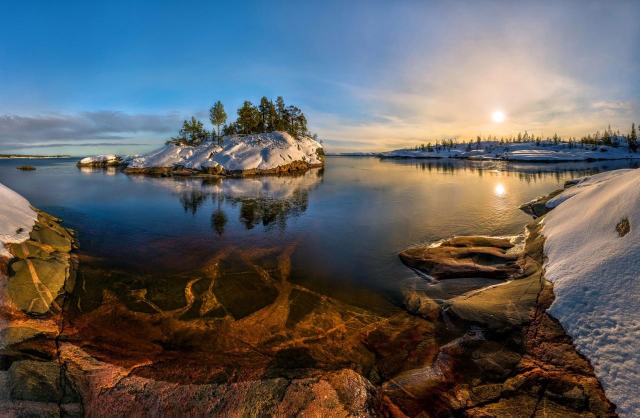 Зимнее Ладожское озеро