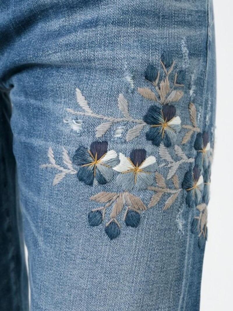 садовые рисунок из ниток на джинсах них