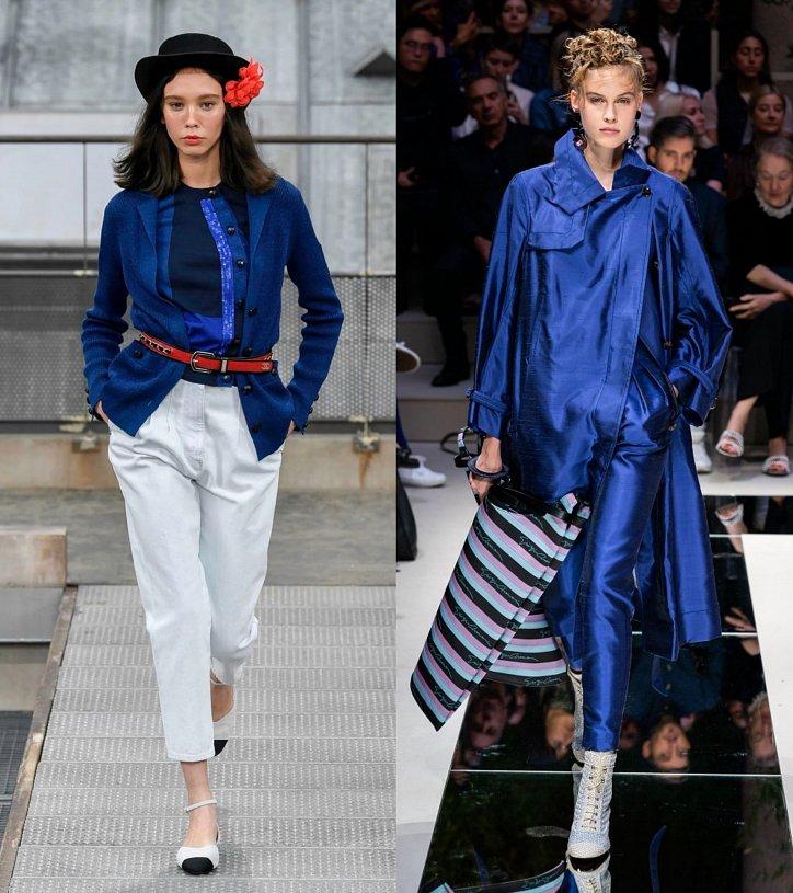 Как носить синий - самый модный цвет 2020 года фото №3