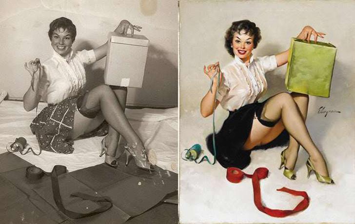 Как на самом деле выглядели девушки, позировавшие для самых известных pin-up постеров иллюстрация