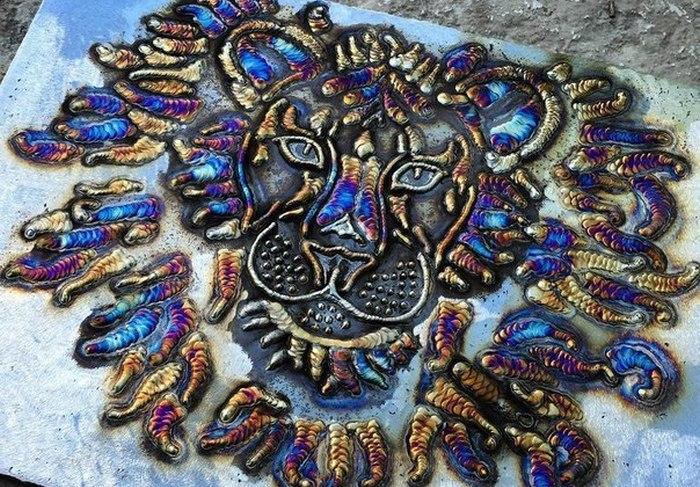 Сварщик в свободное время создает удивительные картины из сварных швов