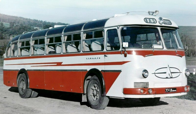 ЛАЗ-699А (1964-го года) - первая серийная модификация междугородного автобуса большого класса. история, ретро, фото