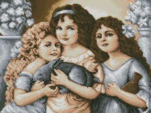"""Схема для вышивания бисером """"Три сестры"""" от Е.Щечилиной"""