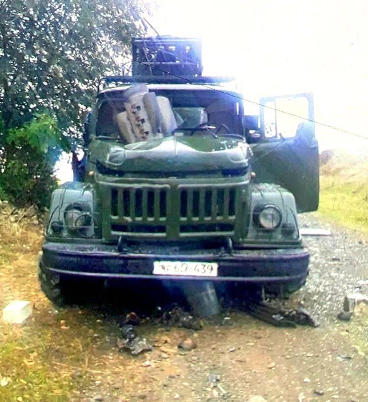 Ракета «Смерча» насквозь прошила двигатель армянского военного ЗИЛа