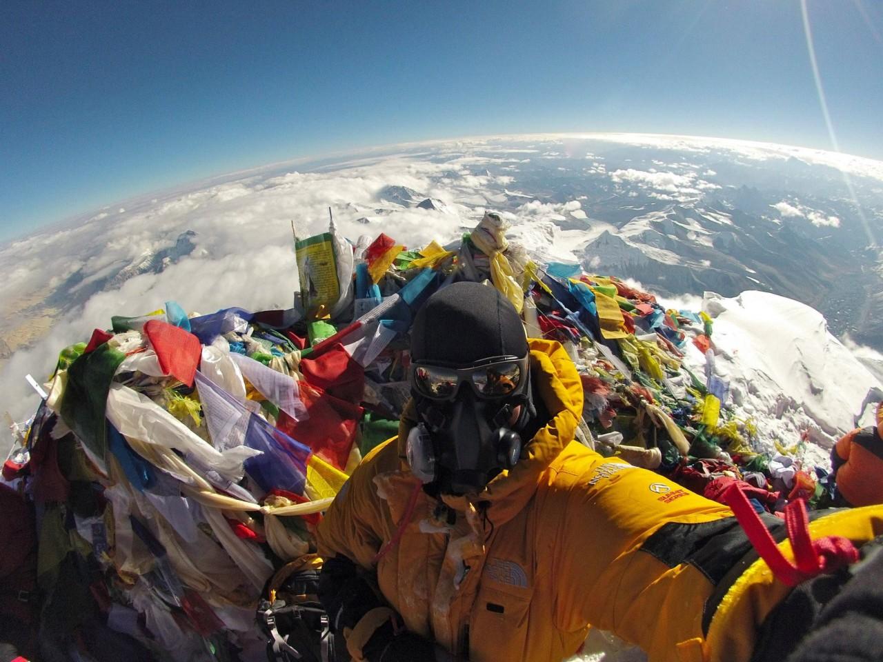 Фото с эвереста с вершины