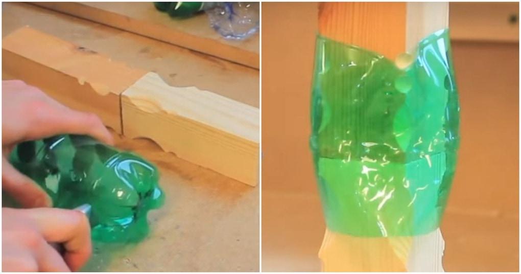 Нетривиальная идея использования пластиковых бутылок: с их помощью можно сделать мебель