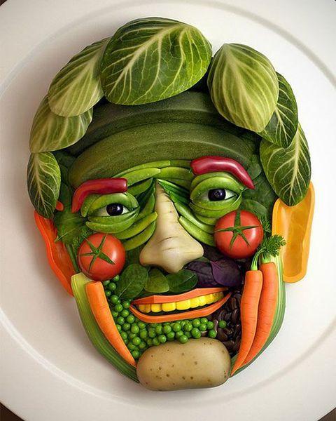 Прикольное оформление блюд-смешная еда 2