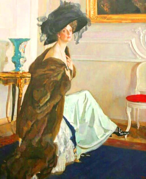 Портрет княгини Ольги Орловой кисти Серова. А главное тут - шляпа, а не дама!