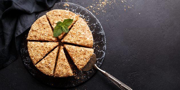 Торт «Наполеон» без яиц с кремом из сгущёнки