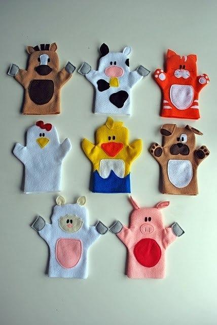 Домашний кукольный театр: выкройки кукол-перчаток творчество с детьми,шитье