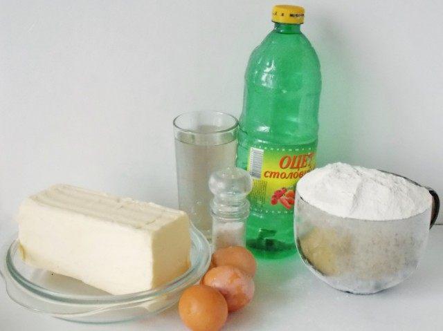 Продукты для слоёного теста