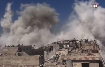 СМИ: 14 мирных жителей погибли при авиаударе коалиции в Сирии