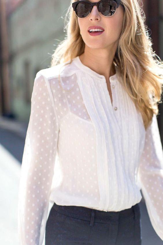 Ультрамодная вещь для летнего сезона: 16 белых блузок без которых не обойтись