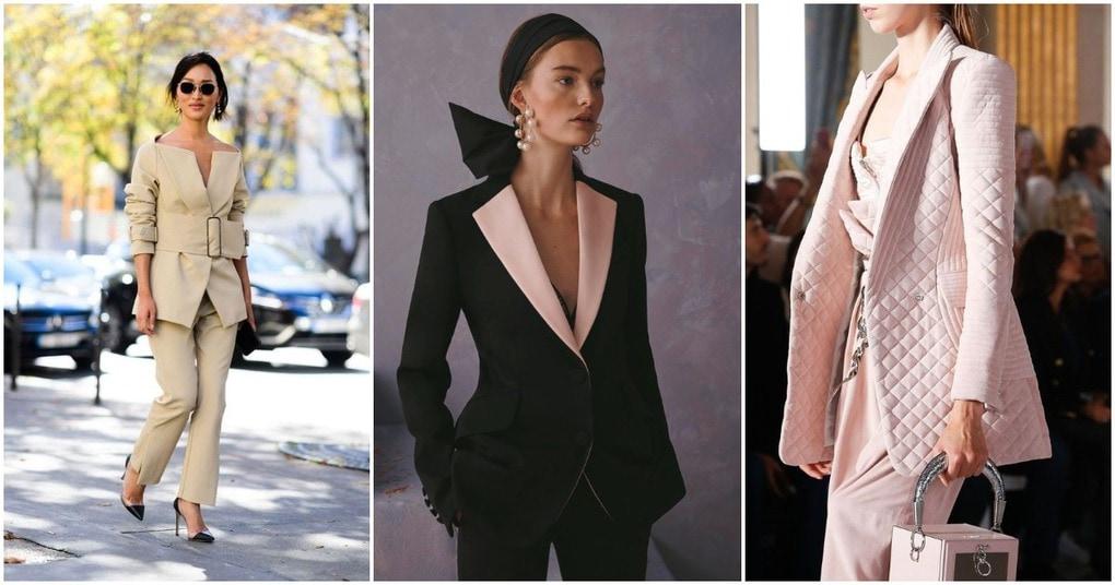 Трендовая подборка модных женских костюмов для осени