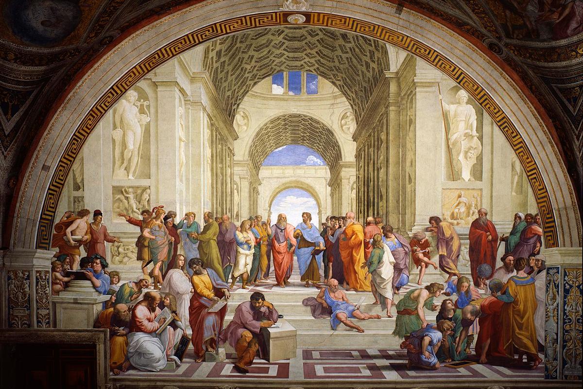 «Афинская школа» — фреска работы Рафаэля в станце делла Сеньятура Ватиканского дворца.