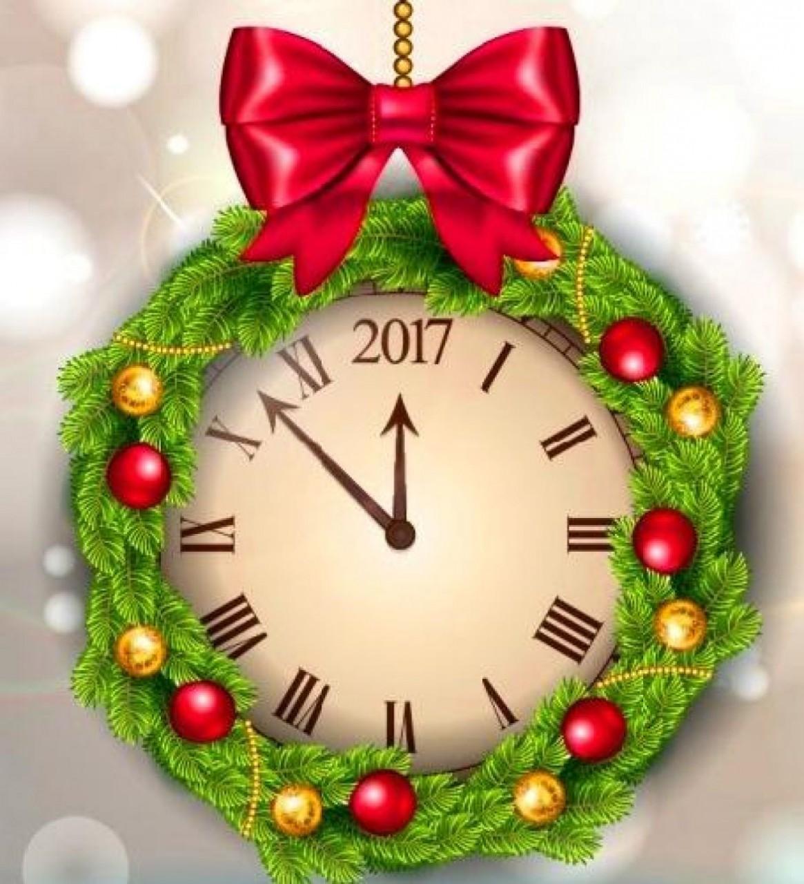 Часики картинка новогодняя