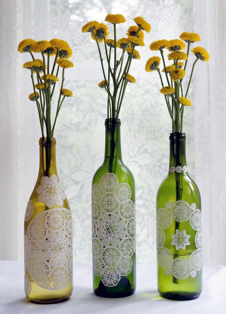 Дизайн бутылок своими руками фото болотная