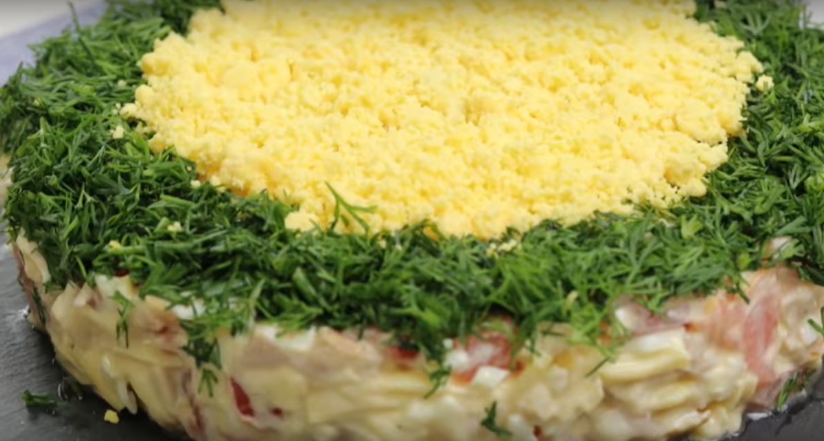 Ну, очень вкусный салат «Минутка»