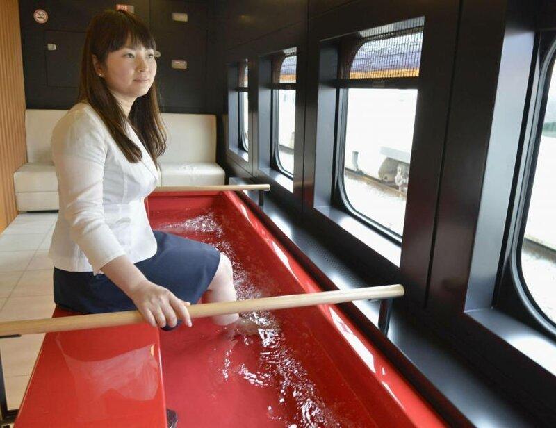 20. Поезд с ванной для ног Их нравы, интересно, традиции, фото, япония