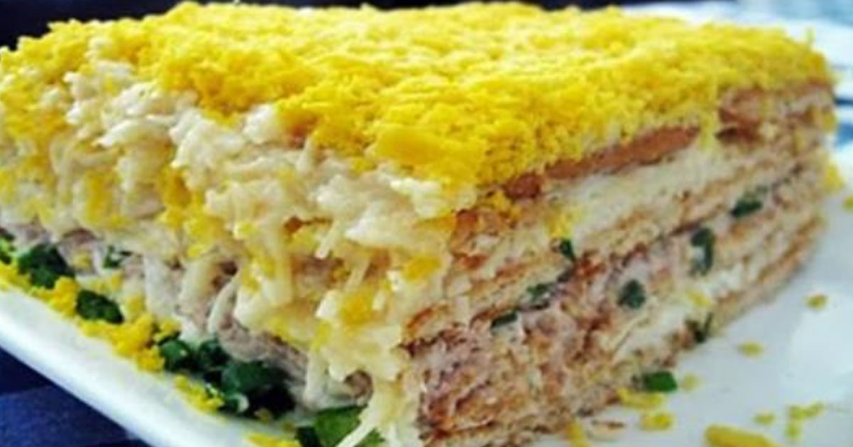 Вкусный торт-салат «Закусочный». Очень рекомендую