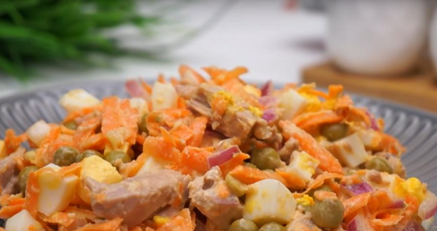 Очаровательный салат с тунцом и морковью