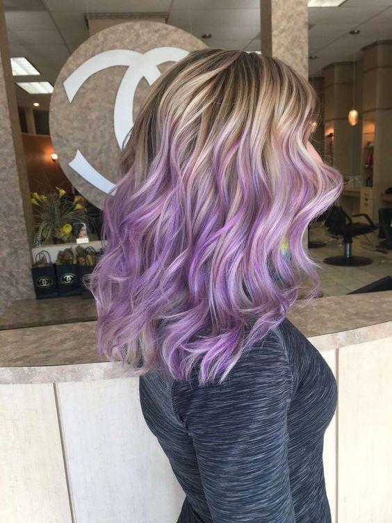 Сиреневое окрашивание волос