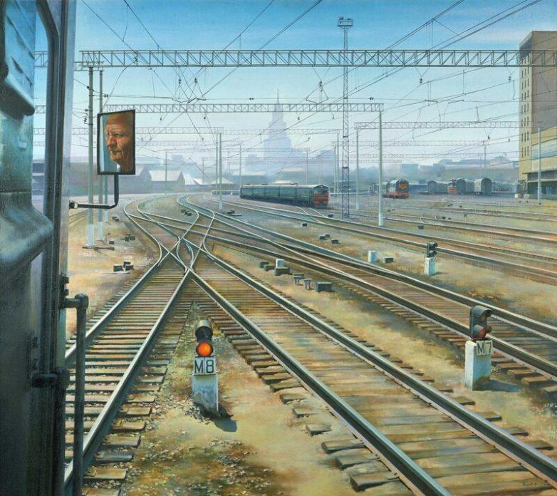 Поезда СССР на картинах советских художников