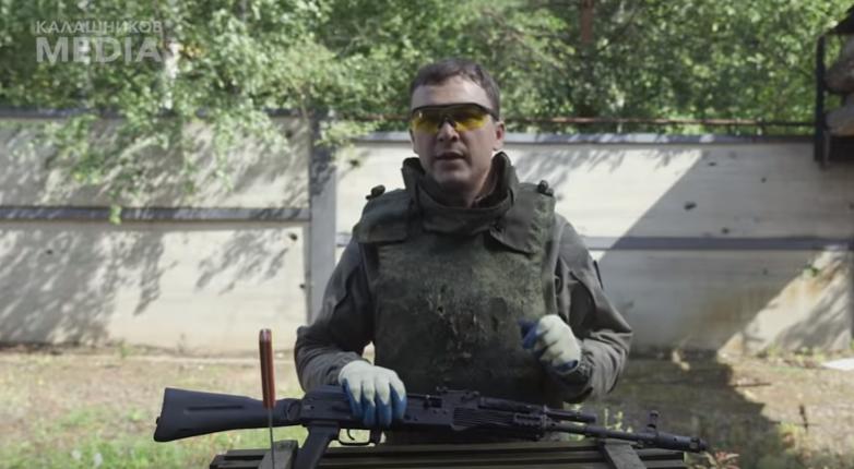 Видео: калашников разорвало во время экстремального теста