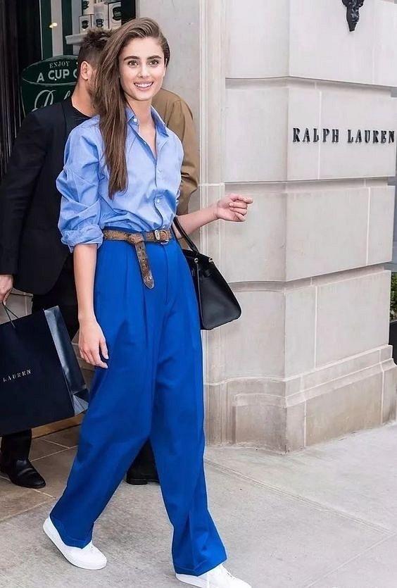 Как носить синий - самый модный цвет 2020 года фото №26