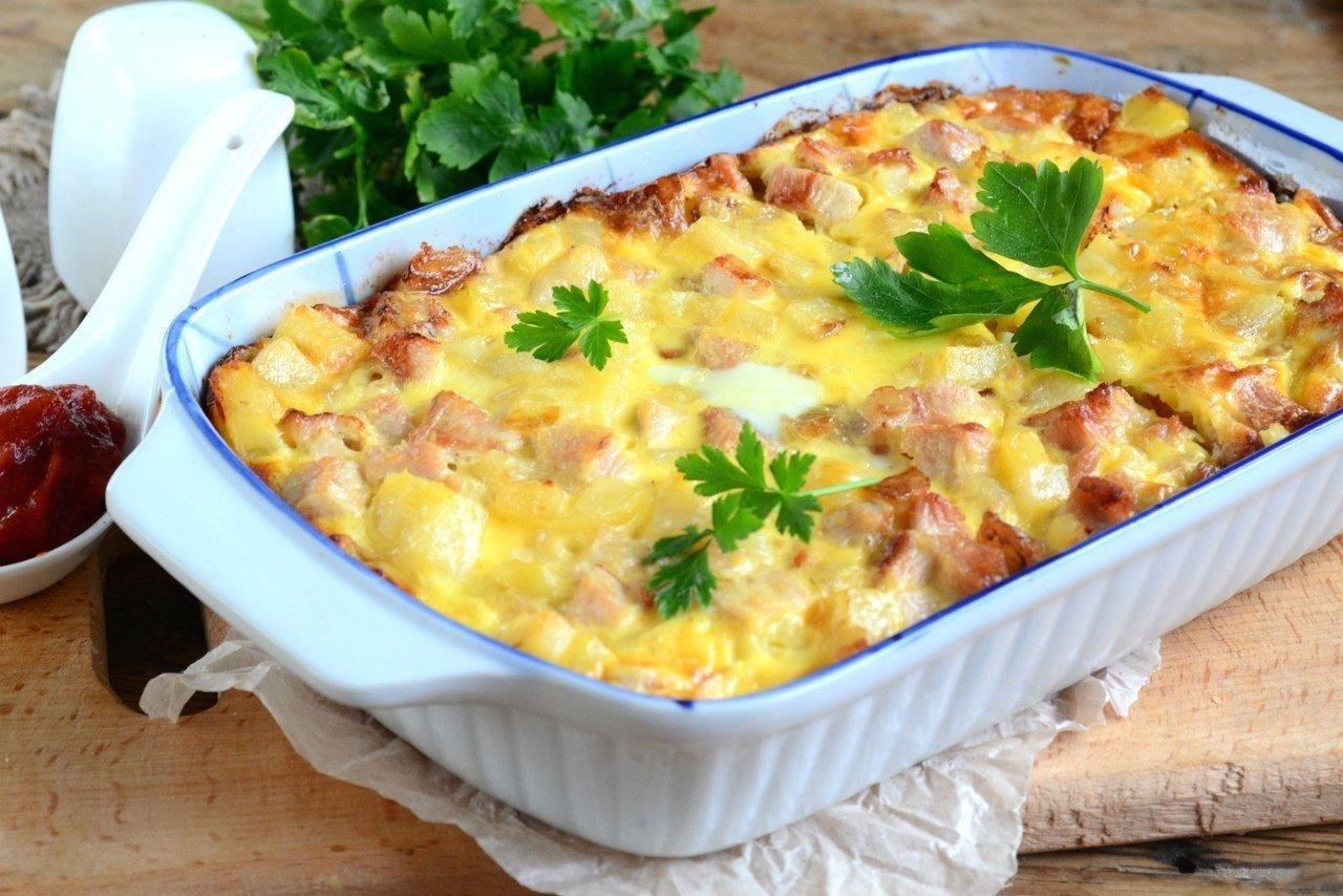 запеканка из картофеля рецепт с фото пошагово рис