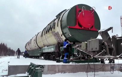 """На """"Плесецке"""" готовятся к новым испытаниям ракеты """"Сармат"""""""