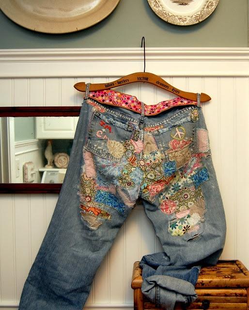 """Оригинальный способ ремонта джинсов. Японская техника """"боро"""". МК"""