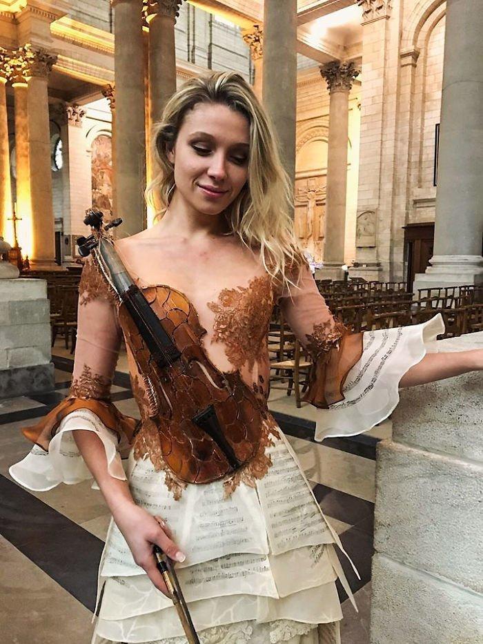 Платье-скрипка Сильви Фасон, красота, креатив, мода, одежда, платье, фантазия