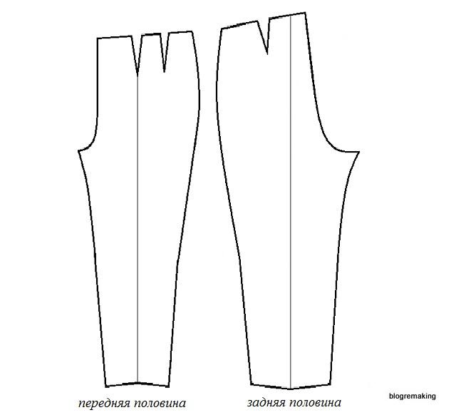Выкройка классических женских брюк (ЦОТШЛ). Пошаговое построение