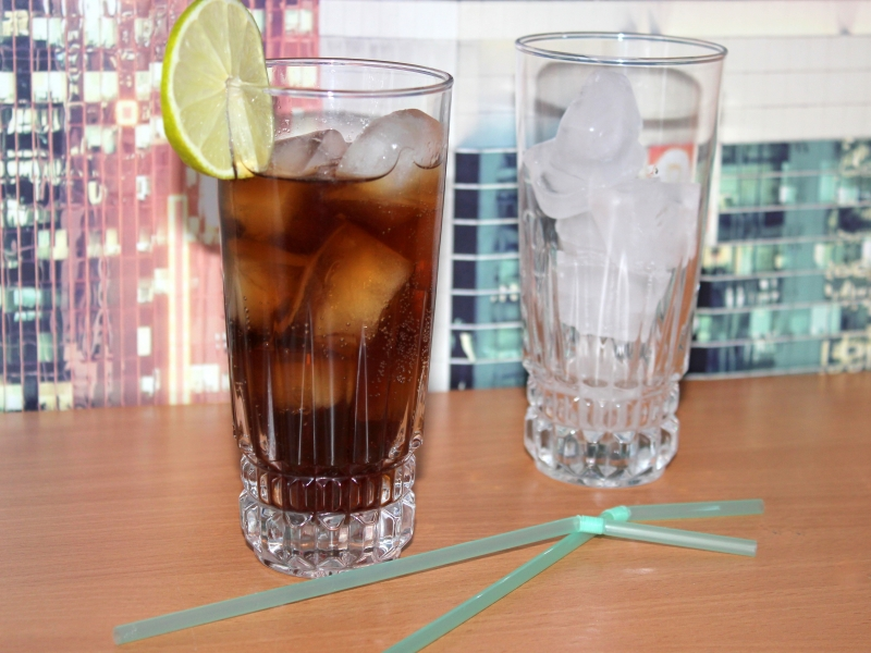 Спиртные напитки. Коктейль «ром кола»