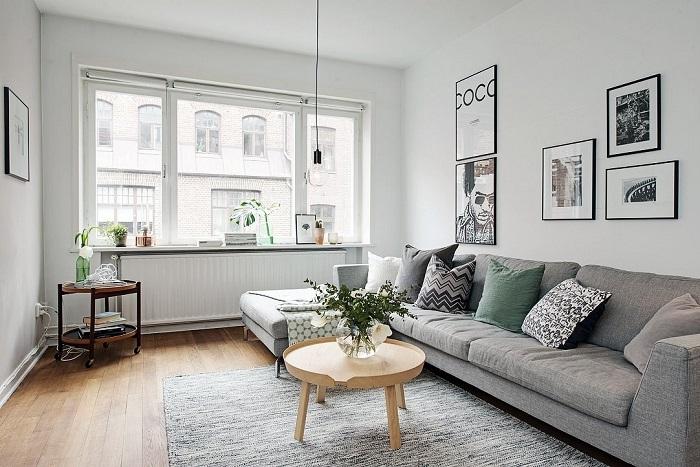 Светлая комната в скандинавском стиле. / Фото:lantana-design.ru