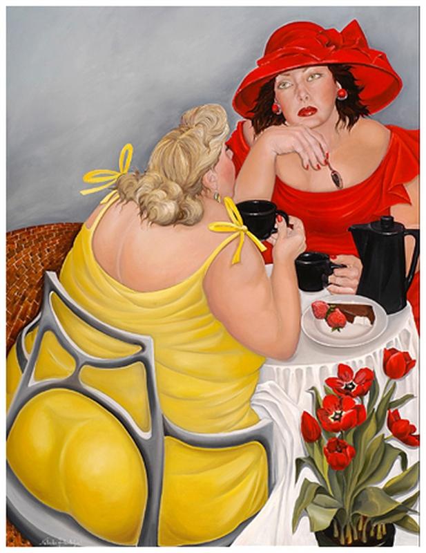 Картинка веселая толстушка