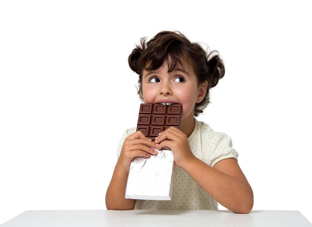 Девочка и шоколад картинки