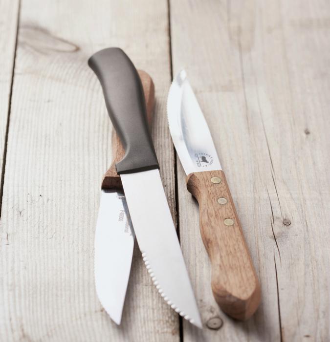 Поломанные и тупые ножи.