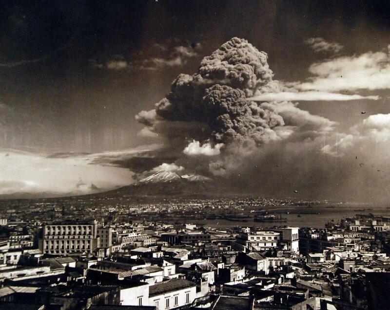27. Извержение вулкана Везувий в 1944 году жизнь, исторические фото, история, прошлое, фото